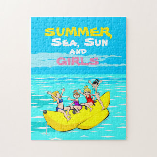 Summer sea sun and girls jigsaw puzzle