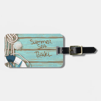 Summer, Sea, Travel Nautical Design Luggage Tag