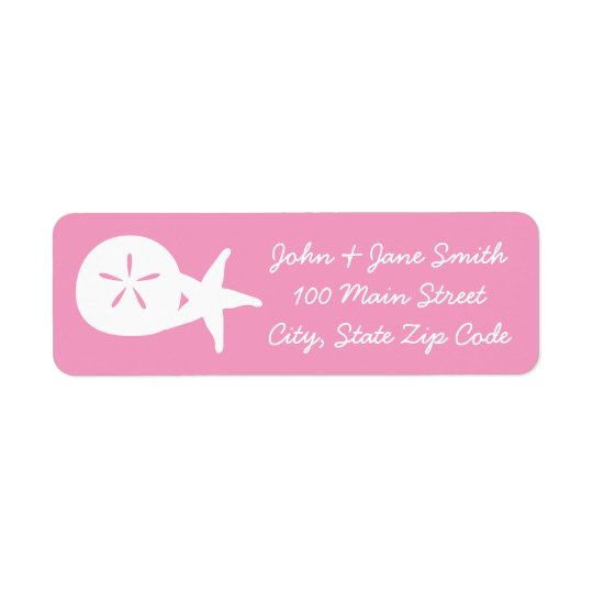 Summer Seashells in Petal Pink Address Label