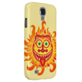 Summer shiny sun grinning and sticking tongue out galaxy s4 cases