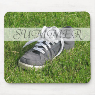 Summer Shoe in Grass on Mouse Pad