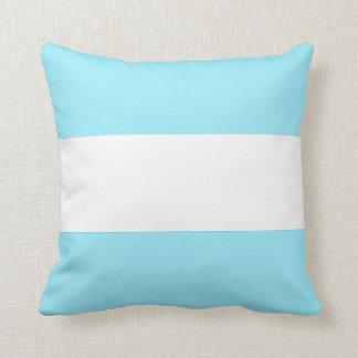Summer Sky Blue with White Stripe Throw Cushion