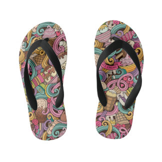 Summer Sole Food Kids Ice Cream Flip Flops