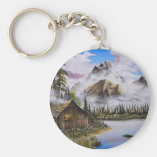 Summer Solitude Oil painting by David Paul Key Ring