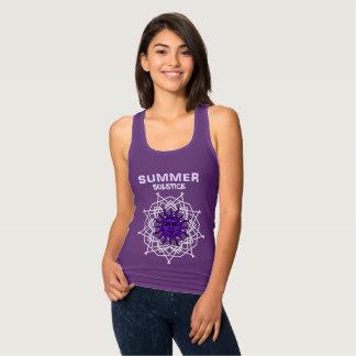 Summer Solstice Purple Druid Sunshine Graphic Singlet