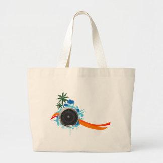 Summer Sound - Beach Music DJ Speaker Large Tote Bag