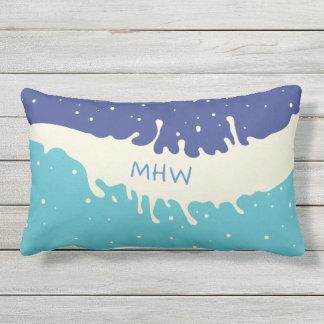 Summer Splash custom monogram throw pillows