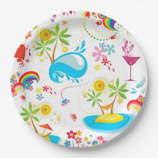 Summer Splash Paper Plate