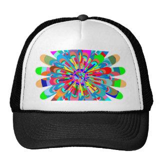 Summer Spring Festival Paint Splash Mesh Hats