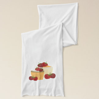 Summer Strawberries And Cupcakes Art Scarf