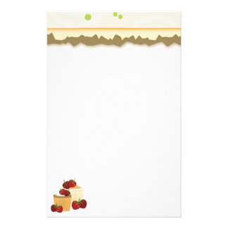 Summer Strawberries And Cupcakes Art Stationery