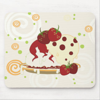 Summer Strawberries And Ice Cream Art Mouse Pad