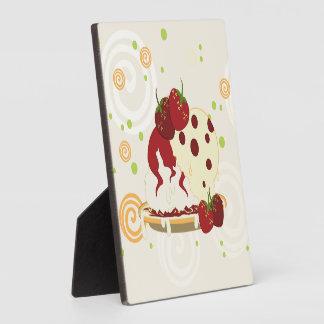 Summer Strawberries And Ice Cream Art Plaque