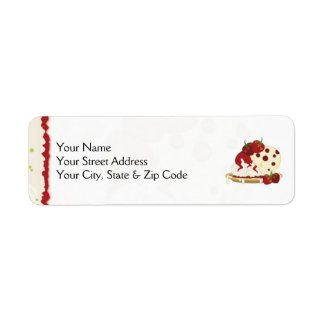 Summer Strawberries And Ice Cream Art Return Address Label