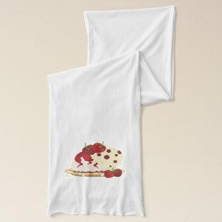 Summer Strawberries And Ice Cream Art Scarf