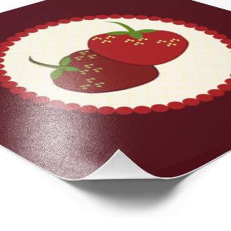 Summer Strawberry Cream Pie Art Photo Print