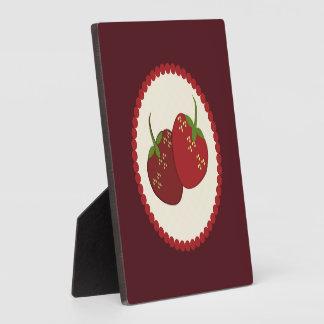 Summer Strawberry Cream Pie Art Plaque