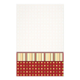 Summer Strawberry Seeds Pattern With Border Stationery