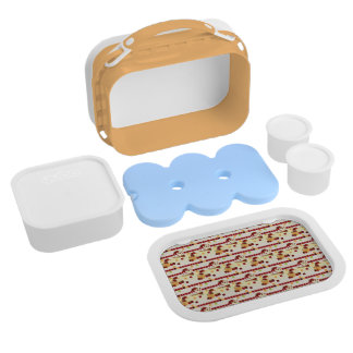 Summer Strawberry Sweet Treats Pattern Lunch Boxes