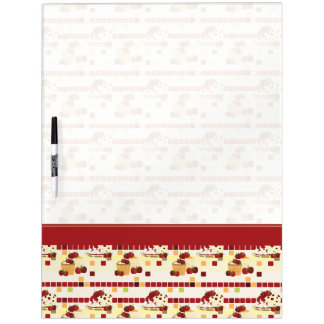 Summer Strawberry Sweet Treats Pattern With Border Dry Erase Board