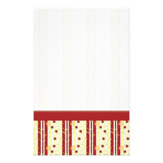 Summer Strawberry Swirl Stripes Pattern - Border Stationery