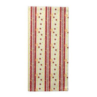 Summer Strawberry Swirl Stripes Pattern Napkin