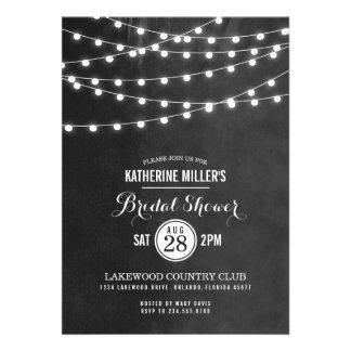 Summer String Lights Bridal Shower Invitation
