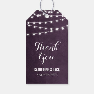 Summer String Lights Thank You Favor Tags
