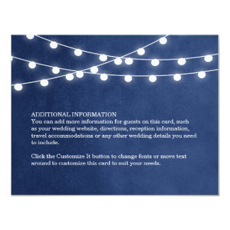 Summer String Lights Wedding Insert Card 11 Cm X 14 Cm Invitation Card