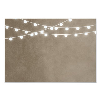 Summer String Lights Wedding Insert Card 9 Cm X 13 Cm Invitation Card