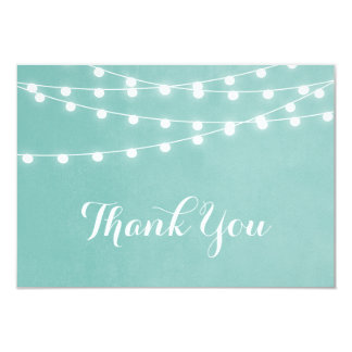 Summer String Lights Wedding Thank You 9 Cm X 13 Cm Invitation Card
