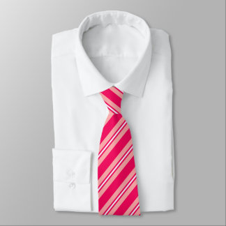 Summer stripes - deep and pale pink tie