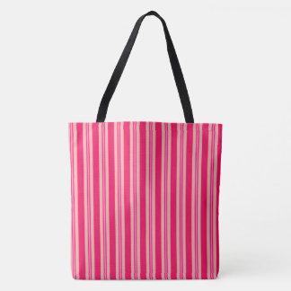Summer stripes - deep and pale pink tote bag