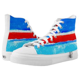 Summer Stripes Unisex Artist-Designed High Tops Printed Shoes