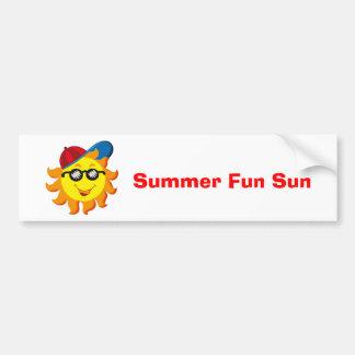 Summer Sun in Ballcap & Sunglasses Bumper Sticker