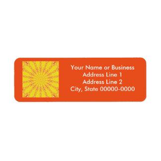 Summer Sun Kaleidoscopic Design Template Return Address Label