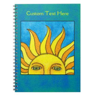 Summer Sun Notebook on blue/green