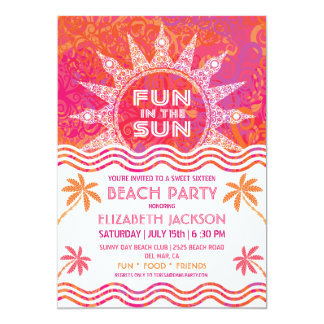 Summer Sun Party Invitation