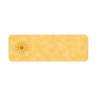 Summer sun. Warm yellow colors. Return Address Label