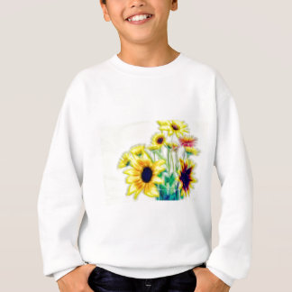 Summer Sunflower and Strawflower Bouquet Sweatshirt