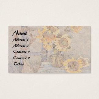 Summer Sunflower Flowers Business Card