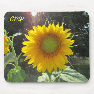 Summer Sunflower with your Initials Mouse Pad