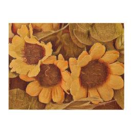 Summer Sunflower Wood Print