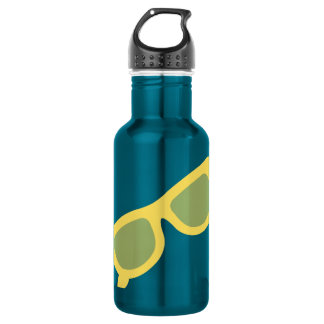 Summer sunglasses yellow hipster eyewear glasses 532 ml water bottle