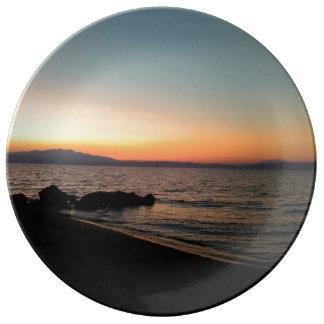 Summer Sunset Decorative Porcelain Plate