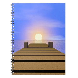 Summer Sunset Dock Notebook