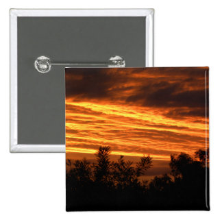 Summer sunset in Canberra 15 Cm Square Badge
