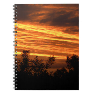 Summer sunset in Canberra Note Books