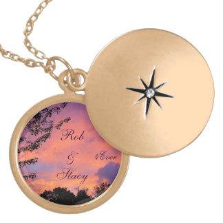 Summer Sunset Romance Locket Necklace