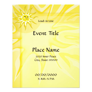Summer Sunshine Small Event Flyer